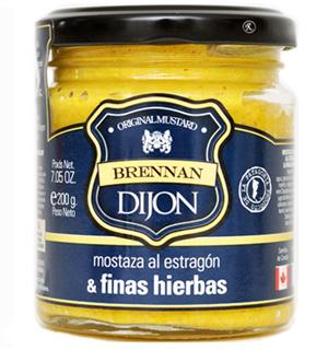 Mostaza Dijon al estragón y finas hierbas Brennan