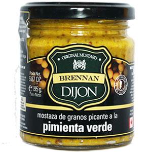 Mostaza Dijon a la pimienta verde Brennan