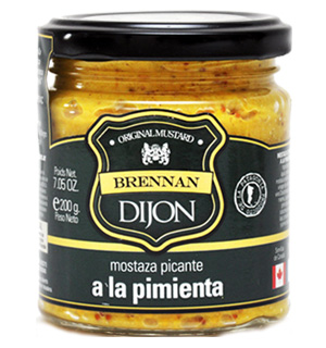 Mostaza Dijon a la pimienta Brennan