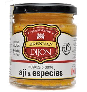 Mostaza Dijon con ají y especias Brennan